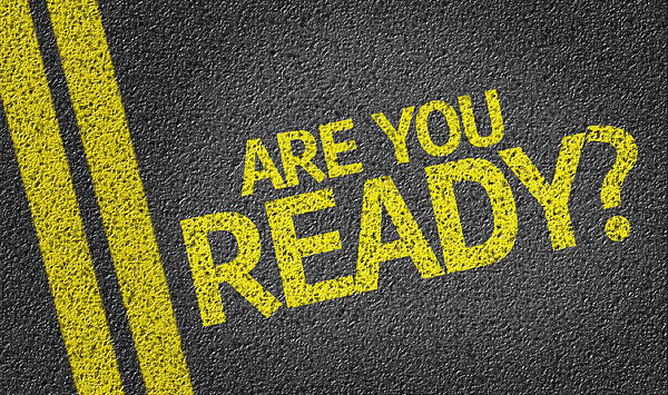 Are you Ready? written on the road