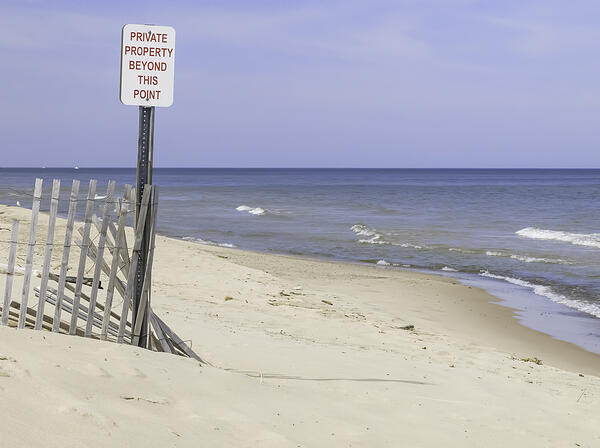 End of a public beach along Lake Michigan-1